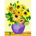 Kanwa słoneczniki w wazonie