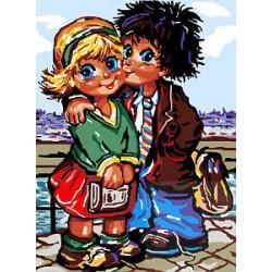 Dzieci Paryża - zakochana para
