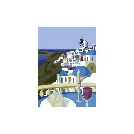 Kolacja na Santorini